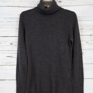 H&M SOFT CHARCOAL TURTLE NECK SWEATER D60